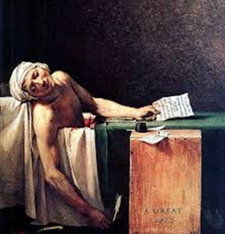 Image result for death of marat images