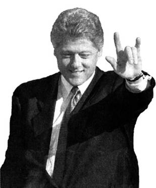 Image result for president  satanic hand signs